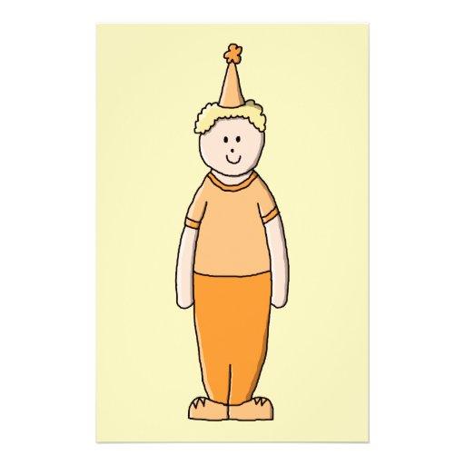 Geburtstags-Junge, in der Orange Flyer Druck
