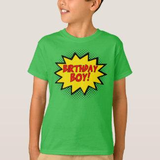 GEBURTSTAGS-JUNGE Superhero-Logo-Geschenk-T - T-Shirt