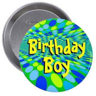 Geburtstags-Jungen-cooles Knopf-Button