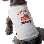 Geburtstags-Jungen-Haustier-Kleidung Haustier Tshirt