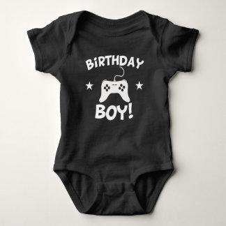 Geburtstags-Jungen-Videospiele Baby Strampler