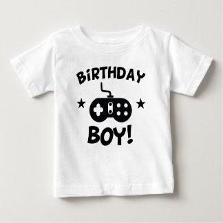 Geburtstags-Jungen-Videospiele Baby T-shirt