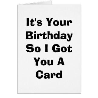 Geburtstags-Karte