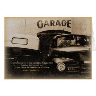 Geburtstags-Karte: Alte Garage Karte