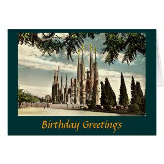 Geburtstags-Karte, Barcelona, Sagrada Familia Grußkarte