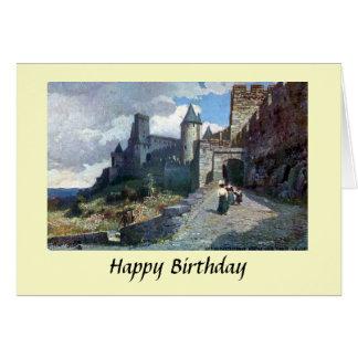 Geburtstags-Karte - Carcassonne. Aude, Frankreich Grußkarte