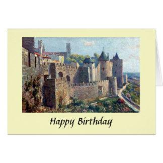 Geburtstags-Karte - Cité De Carcassonne, Grußkarte