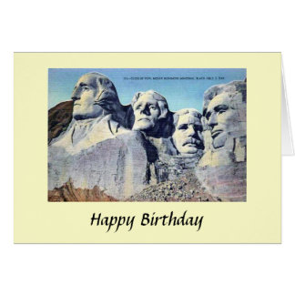 Geburtstags-Karte - der Mount Rushmore, South Karte