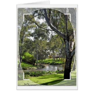 Geburtstags-Karte - Fluss Torrens Südaustralien Karte