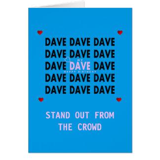 Geburtstags-Karte für DAVE-Rosa Karte