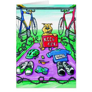 Geburtstags-Karte für Triathlete - behalten Sie Karte