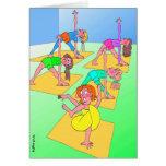 Geburtstags-Karte für Yoga-Liebhaber - verdrehtes