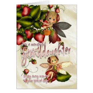 Geburtstags-Karte - groß - Enkelin - Moonies Cuti Karte