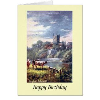 Geburtstags-Karte - Hereford Kathedrale Karte