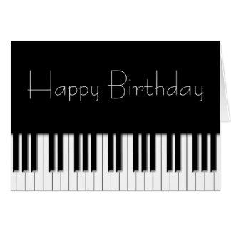 Geburtstags-Karte - Klavier-Tasten Grußkarte