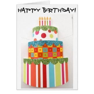 Geburtstags-Karte mit dem größten Grußkarte