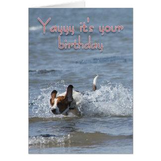 Geburtstags-Karte mit Hund - Yayy ist es Ihr