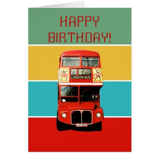 Geburtstags-Karte mit London-Bus