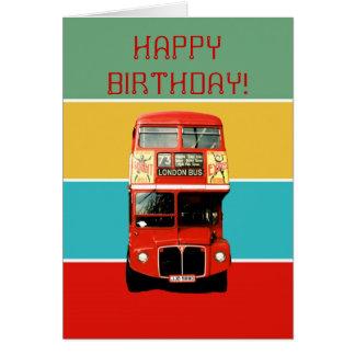 Geburtstags-Karte mit London-Bus Grußkarte