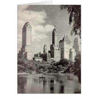Geburtstags-Karte, New York City, Central Park Karte