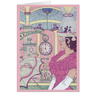 Geburtstags-Karte - Steampunk Karte