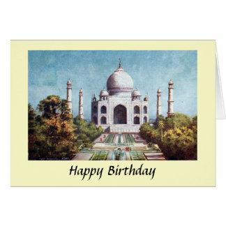 Geburtstags-Karte - Taj Mahal, Agra, Indien Karte