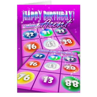 Geburtstags-Karte Tanten-Bingo Crazy