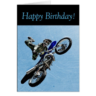 Geburtstags-Karte: Wenn der Typ MOTOCROSS Trick Grußkarte