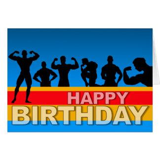 Geburtstags-Karten-Bodybuilder Mitteilungskarte