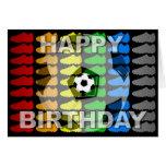 Geburtstags-Karten-Fußball-Schuh-Schwarzes