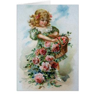 Geburtstags-Karten-Gruß-Rosen-viktorianisches Karte