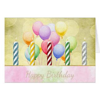 Geburtstags-Kerzen-und Ballon-Geburtstags-Karte Karte
