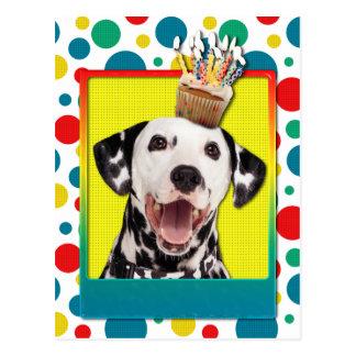 Geburtstags-kleiner Kuchen - Dalmatiner Postkarte