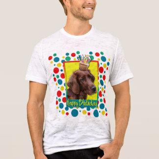 Geburtstags-kleiner Kuchen - Irischer Setter T-Shirt