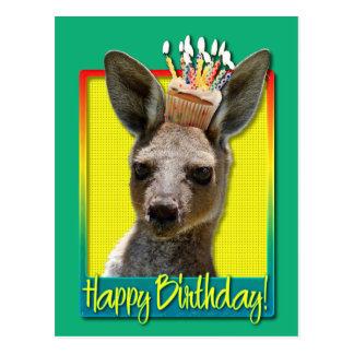 Geburtstags-kleiner Kuchen - Känguru Postkarte
