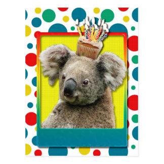 Geburtstags-kleiner Kuchen - Koala Postkarte