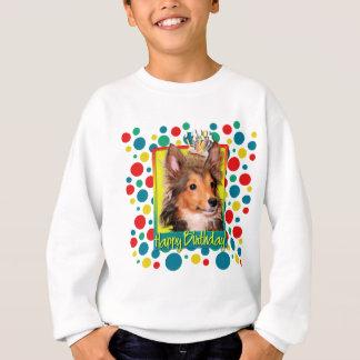 Geburtstags-kleiner Kuchen - Sheltie Welpe - Sweatshirt