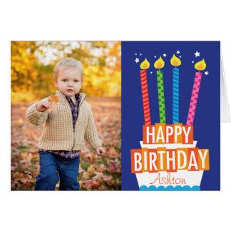 Geburtstags-Kuchen-Foto-Gruß-Karte Karte