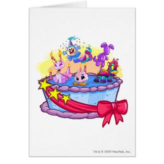 Geburtstags-Kuchen-Gruppen-Schuss Karte