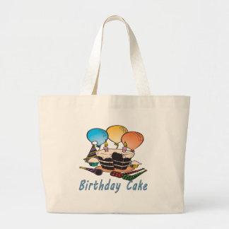 Geburtstags-Kuchen Jumbo Stoffbeutel