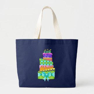 Geburtstags-Kuchen-Leinwand-Tasche (nur Kuchen) Jumbo Stoffbeutel