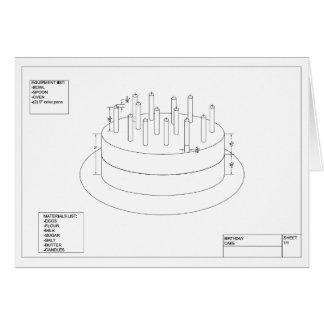 Geburtstags-Kuchen-Plan zum Party Karte