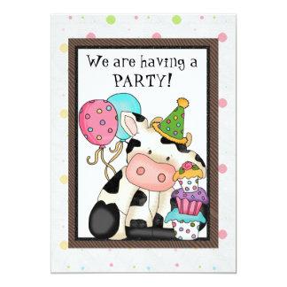 Geburtstags-Kuh-Einladung 12,7 X 17,8 Cm Einladungskarte