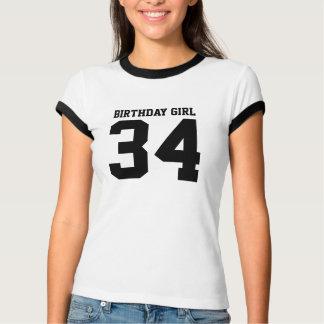Geburtstags-Mädchen 34 T-Shirt