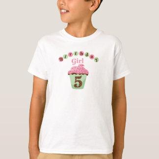 Geburtstags-Mädchen-Alter 5 T-Shirt