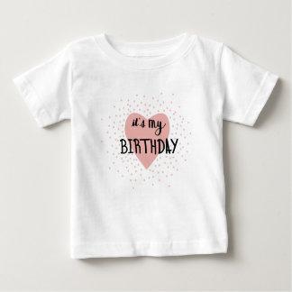 Geburtstags-Mädchen Baby T-shirt