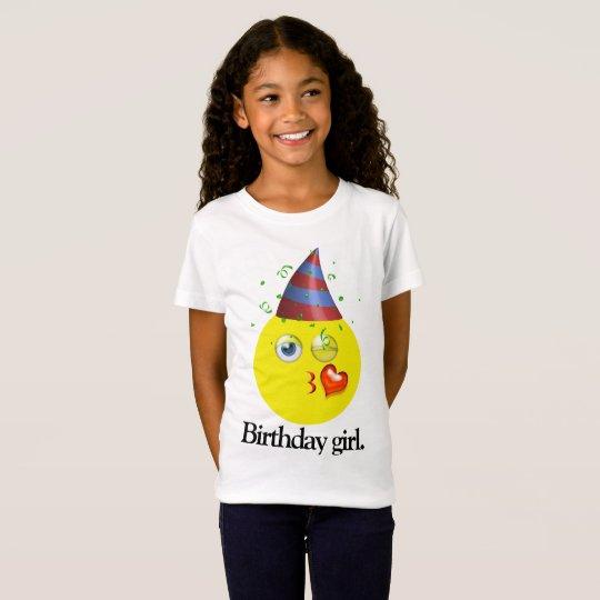 Geburtstags-Mädchen Emoji T-Shirt