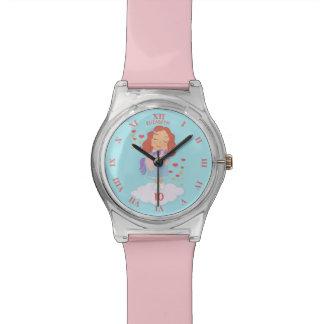 Geburtstags-Mädchen mit cooler süßer Uhr