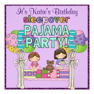 pyjama party einladungen. Black Bedroom Furniture Sets. Home Design Ideas