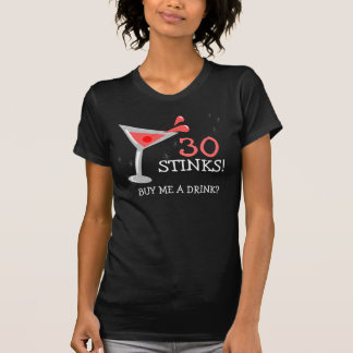 Geburtstags-Martini-Cocktail-lustiges T-Stück T-Shirt